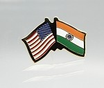 US/India Friendship Flag Lapel Pin